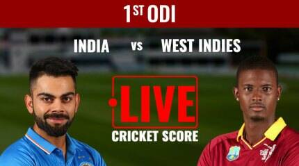 India vs West Indies Live Score 1st ODI in Port-of-Spain