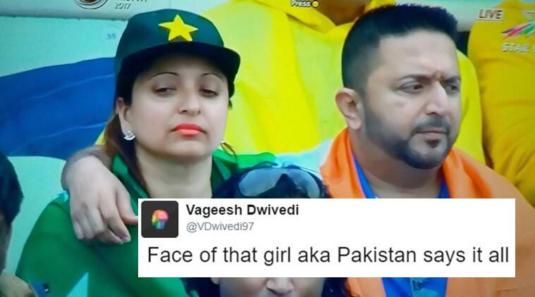 india vs pakistan, #IndVsPak, india pak funny couple viral, india pak couple from match