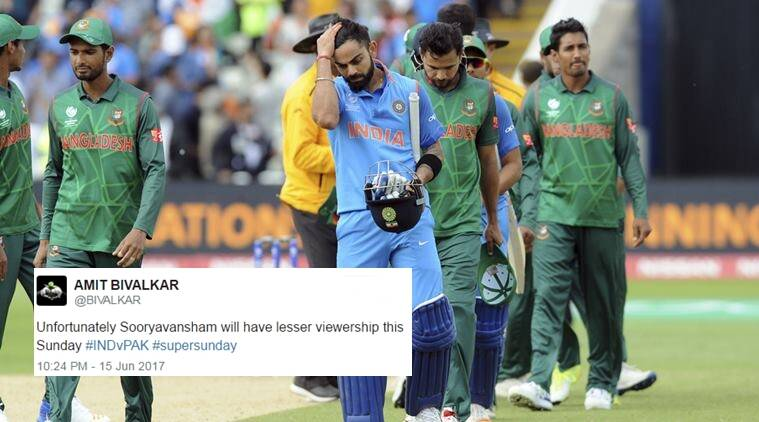 ICC champions trophy, india vs pakistan, sunday finals, twitter reaction, indian express, indian express news