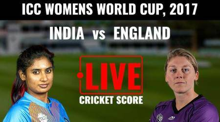 India vs England Live Score, ICC Women's World Cup 2017: India pick fifth wicket against England