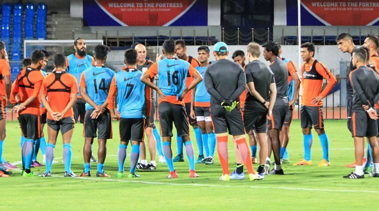 india vs kyrgyzstan, india vs kyrgyz republic, sunil chettri, india football, football news, sports news, indian express