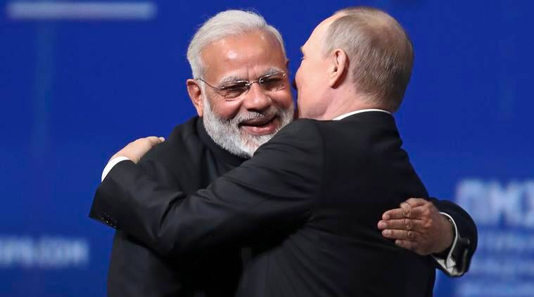 India-Russia, India-Russia relations, Narendra Modi, Vladimir Putin, St Petersburg declaration, India-Russia economy, India news, indian express