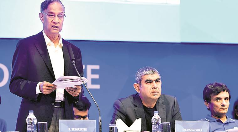 infosys, R Seshasayee, infosys pay dispute, narayana murthy, vishal sikka, indian economy, india news