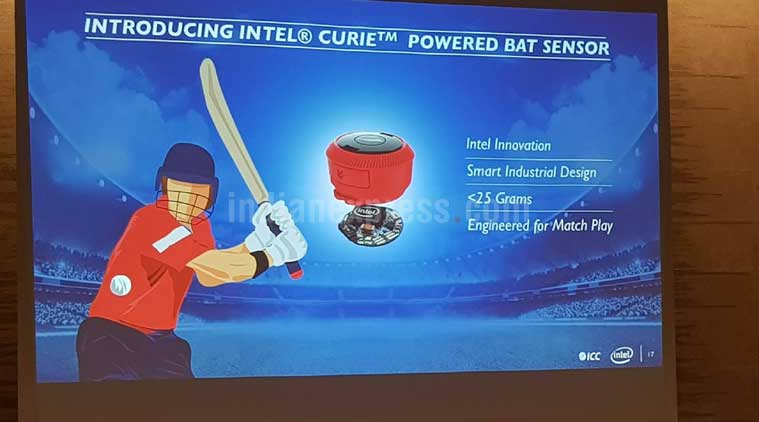 Intel, Intel Bat Sense, Intel Bat Sense technology, Intel Smart Bat, Intel Champions Trophy, ICC Champions Trophy 2017