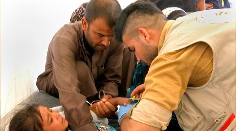 Mosul, Syria, Iraq, Mosul displaced camp, Mosul camp food poisoning, world news, indian express news