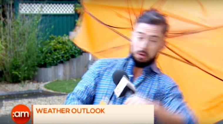 irish reporter gets blown in wind, reporter blown away on tv, tv blooper, news blooper