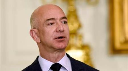 Jeff Bezos, Amazon CEO, World's richest man, jeff bezos richest man, amazon founder, jeff bezos money, amazon shares, business news, indian express