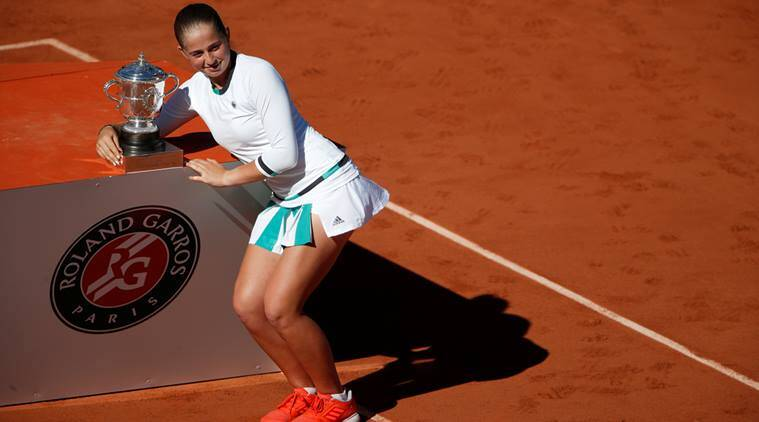 Jelena Ostapenka, Simona Halep, French Open 2017, Jelena Jakovleva, Roland Garros, Latvia, Justine Henin, sports news, tennis news, indian express