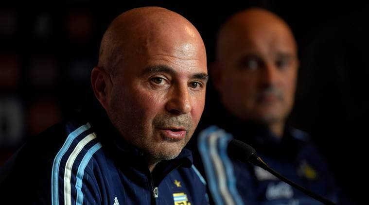 argentina, lionel messi, jorge sampaoli, fifa world cup, 2018 fifa world cup, football news, sports news, indian express