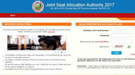 JoSAA 2017: Counselling begins, know to get registered and fill choice