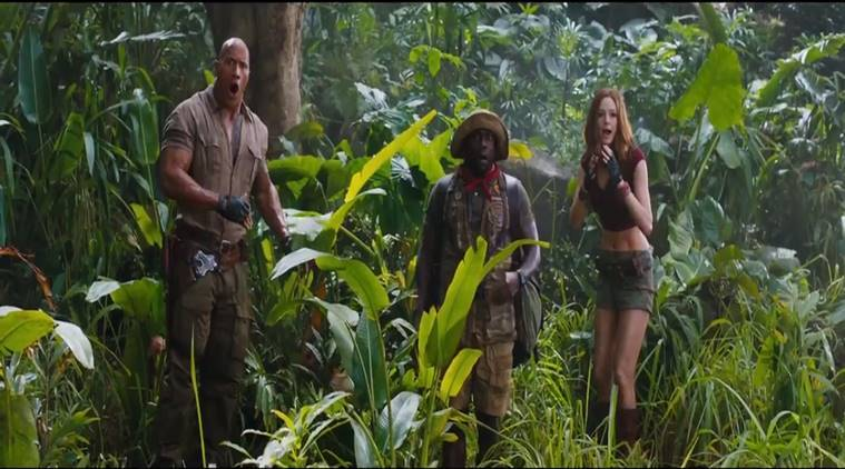 Jumanji welcome to the jungle, Karen Gillan, Dwayne Johnson, Missi Pyle, Jumanji 2 pic