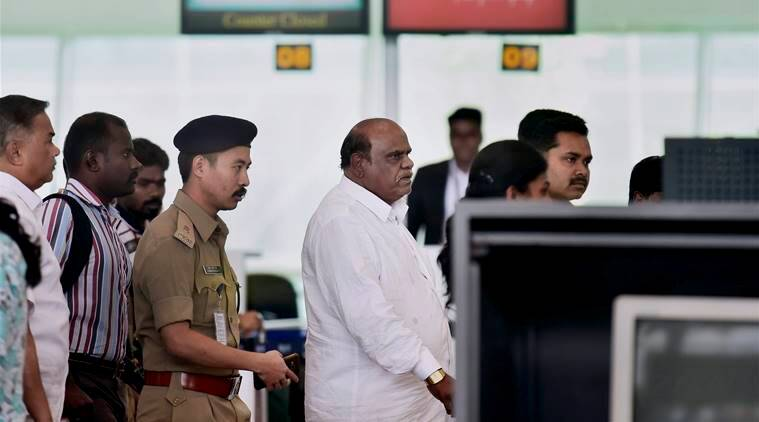 karnan case, c s karnan, justice karnan, justice cs karnan, karnan jailed, karnan bail, india news, indian express news
