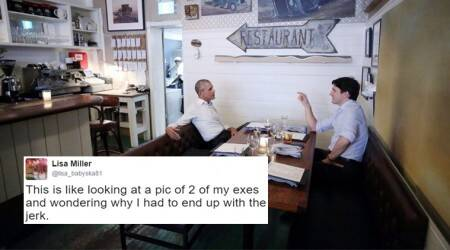 Twitterati lose calm over photo of Canadian PM Justin Trudeau chilling with Obama; want Macron on board too