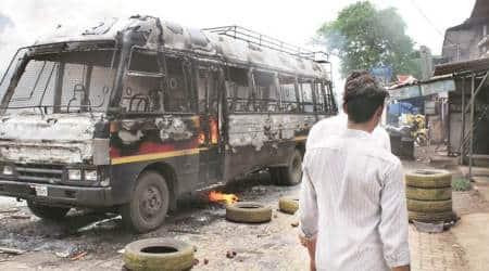 kalyan protest, kalyan haji masang road, mumbai, indian express
