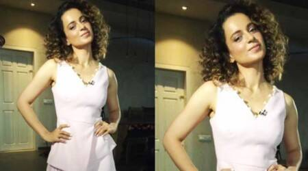 Kangana Ranaut looks stunning in a blush pink and pearls number from Osman