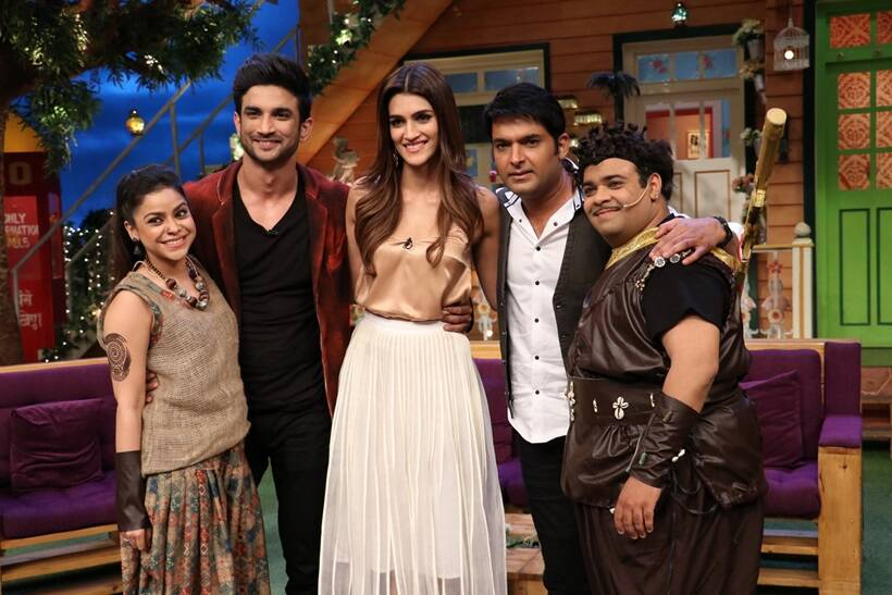 the kapil sharma show, the kapil sharma show pics, raabta kapil sharma, raabta actors kapil sharma show, sushant singh kriti sanon