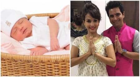 Karan Mehra, Karan Mehra son, Karan Mehra son name, Karan Mehra new photos, Karan Mehra son news, Nisha Rawal, Kavish Mehra