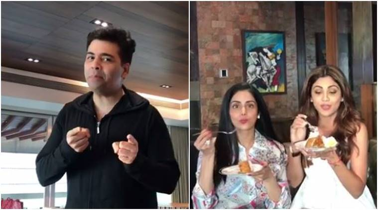 Shilpa Shetty, Karan Johar, Sridevi, Shilpa shetty sunday binge video stills