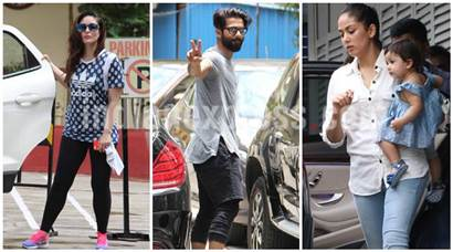 Kareena Kapoor Khan and Shahid Kapoor hit the gym as Mira Rajput has a day out with Misha