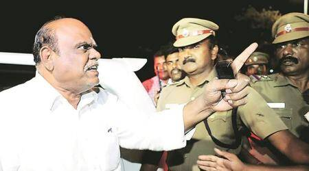 Former judge C S Karnan taken to Kolkata by West Bengal Police