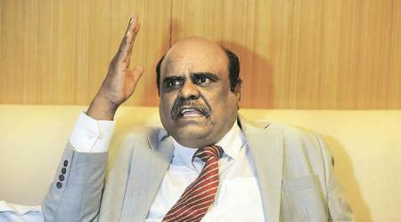 Former Justice C S Karnan in Presidency Jail Hospital after his release from SSKM