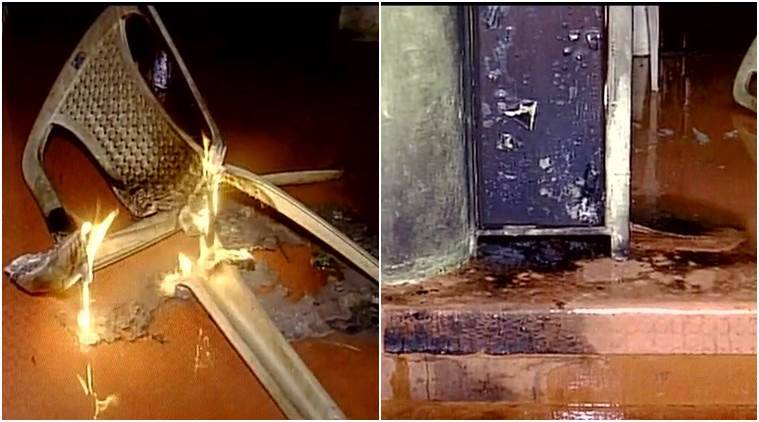 petrol bomb attack, petrol bomb attack in kerala, thiruvananthapuram hartal, yuva morcha leader, bjp, cpm, petrol bomb attack-bjp, india news, indian express