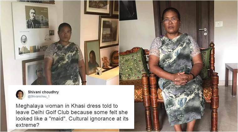 delhi golf club, khasi, meghlaya, khasi traditional dress, Jainsem, north east people racial attack, khasi woman ousted delhi club, delhi golf club khasi woman, northeast news, meghlaya news, delhi news, indian express, viral news, trending news