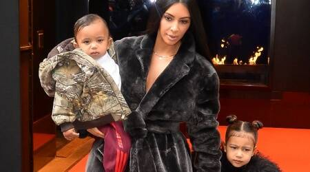 Kim Kardashian mom-shamed for posting image of her child sitting front facing in car