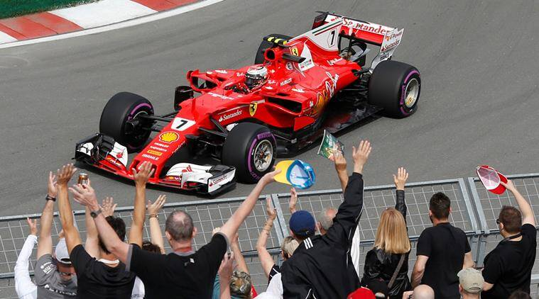 ferrari s kimi raikkonen tops practice at canadian grand prix the indian express. Black Bedroom Furniture Sets. Home Design Ideas