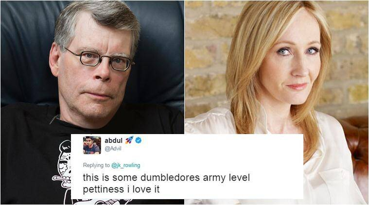 Stephen King, JK Rowling, Donald Trump, blocked by trump,