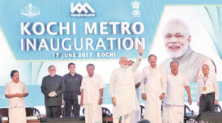 kochi metro, kochi metro inauguration, narendra modi kochi metro, metro man sreedharan, e sreedharan,kerala metro, kerala news, latest news