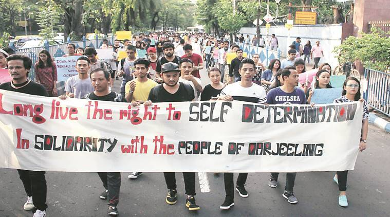 Protest marches held in Darjeeling, normal life crippled