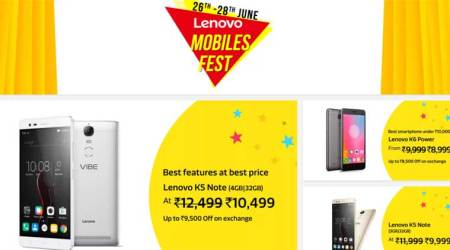 Lenovo Mobiles festival on Flipkart: Discounts on Lenovo K5 Note, K6 Power, P2 and more