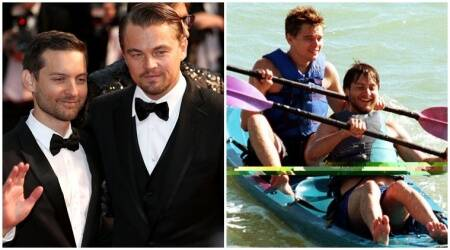 Best buddies Leonardo DiCaprio, Tobey Maguire meet for dinner date withfamilies
