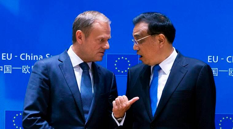 donald tusk, li keqiang, chinese premier, eu president, european council, china summit brussels