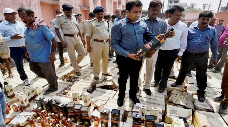 bihar liquor ban, illegal liquor trade, alcohol seized bihar, indian express