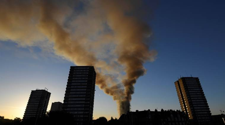 london fire, grenfell tower, theresa may,  Grenfell disaster, building safety check,