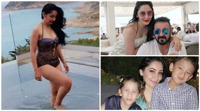 Maanayata Dutt's pool time, Sanjay Dutt's photos with his twins: Their family holiday in Europe will make you go aww