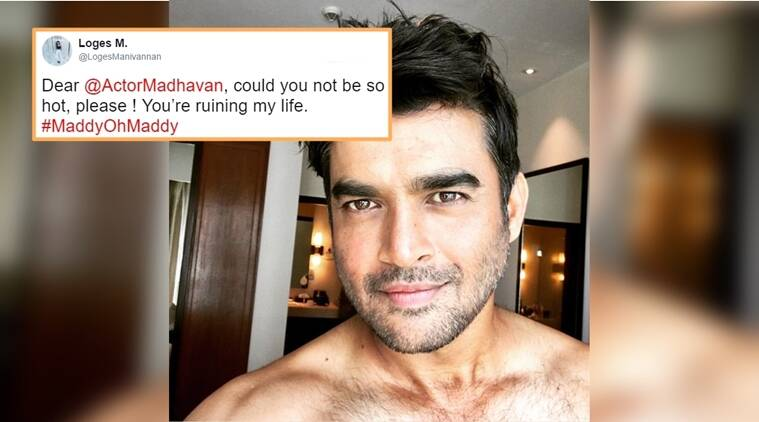 r madhavan, r madhavan pics, madhavan hot pics, madhavan shower pic, madhavan shower selfie, madhavan instagram post, madhavan selfie reactions, madhavan shower photo, madhavan pics, ranganathan madhavan, r madhavan actor, indian express, indian express news