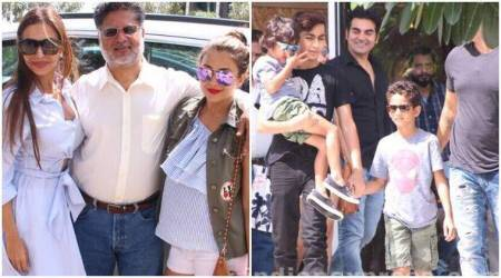 Arbaaz Khan and Malaika Arora celebrate Father's Day with their son and family. See photos