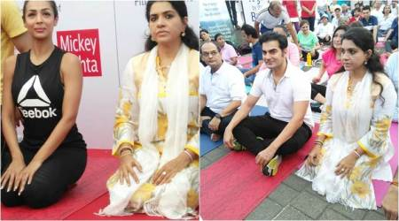 International Yoga Day 2017: Ex-couple Malaika Arora, Arbaaz Khan celebrate it together, see photos