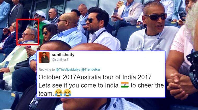 vijay mallya, india vs pakistan match, icc champions trophy 2017, vijay mallya tweets, vijay mallya twitter reactions, indian express, indian express news