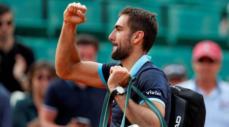 Marin Cilic, French open 2017, Indian Express