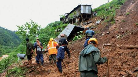 Three killed in Meghalaya landslide, two missing