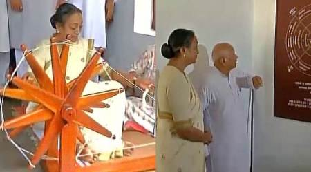 My fight is based on Gandhiji's principles: Meira Kumar at Sabarmati Ashram