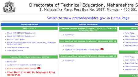 MHT CET 2017 final merit list announced at dtemaharashtra.gov.in