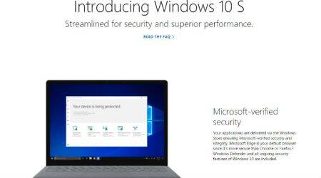 Microsoft Windows 10 S vulnerable to ransomware: Report