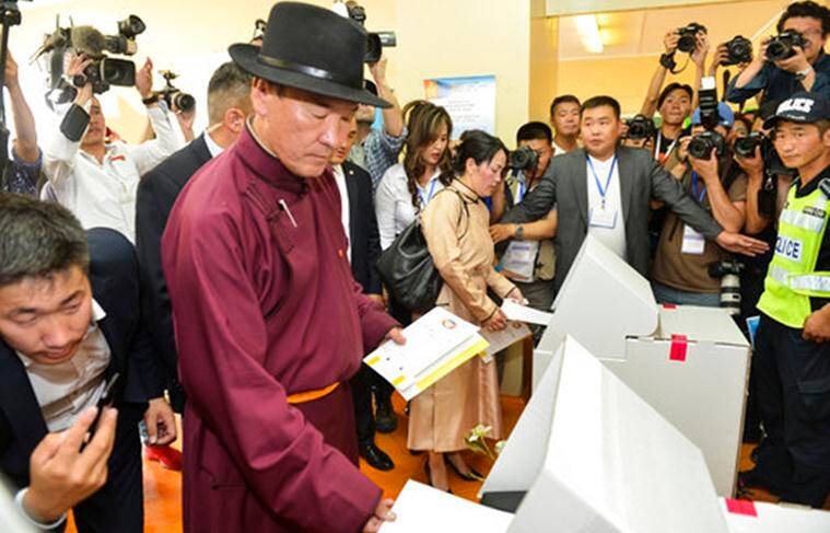 Mongolia Election, Mongolia Presidential Election, Mongolia Presidential Vote, Mongolia Presidential Candidate, Mongolia, Mongolia Presidential Election July 9, World News, Latest World News, Indian Express, Indian Express News