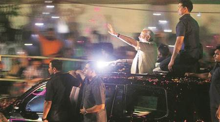 Showers force PM Modi to wind up Rajkot roadshow in an hour