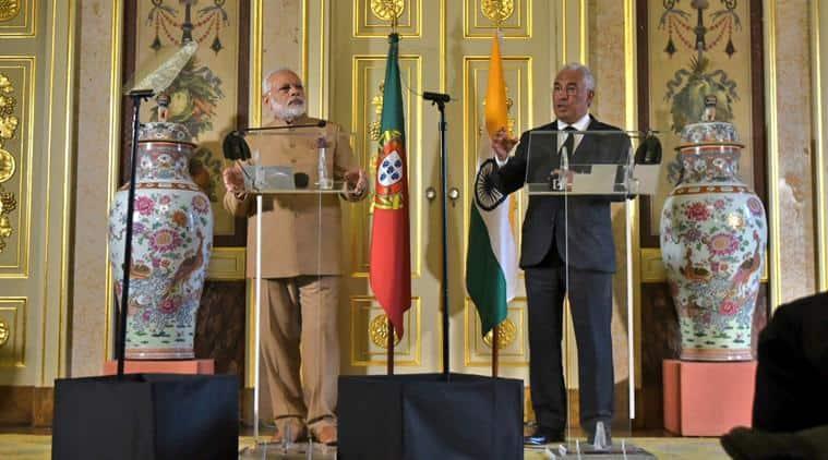 Narendra Modi, Modi Portugal visit, PM Portugal visit, PM Modi Portugal visit, Narendra Modi Portugal visit, Portugal visit, Antonio Costa, Lisbon, Portuguese PM, india news, indian express news